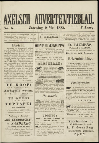 Axelsche Courant 1885-05-09