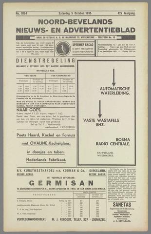 Noord-Bevelands Nieuws- en advertentieblad 1935-10-05