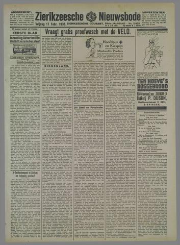 Zierikzeesche Nieuwsbode 1933-02-17