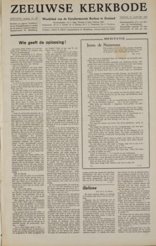 Zeeuwsche kerkbode, weekblad gewijd aan de belangen der gereformeerde kerken/ Zeeuwsch kerkblad 1958-01-10