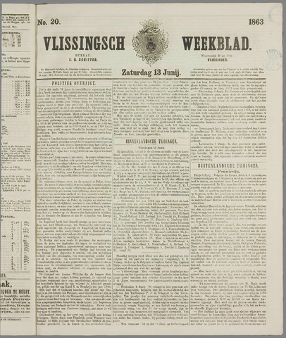 Vlissings Weekblad 1863-06-13