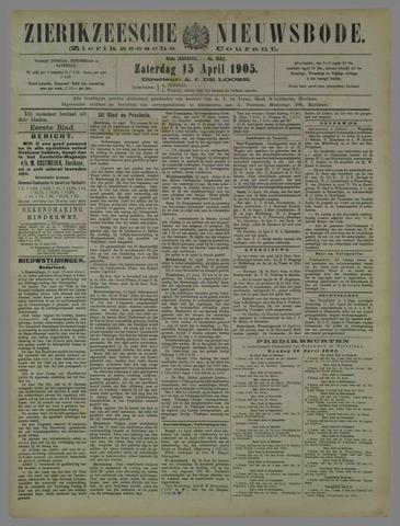 Zierikzeesche Nieuwsbode 1905-04-15