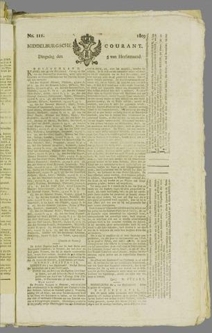 Middelburgsche Courant 1809-09-05