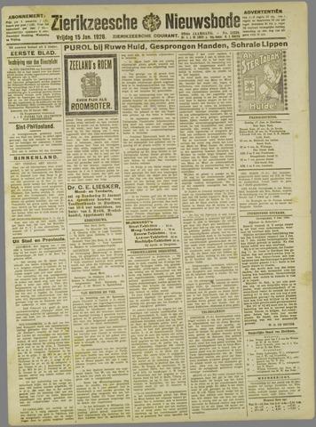 Zierikzeesche Nieuwsbode 1926-01-15