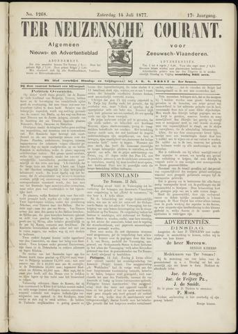 Ter Neuzensche Courant. Algemeen Nieuws- en Advertentieblad voor Zeeuwsch-Vlaanderen / Neuzensche Courant ... (idem) / (Algemeen) nieuws en advertentieblad voor Zeeuwsch-Vlaanderen 1877-07-14