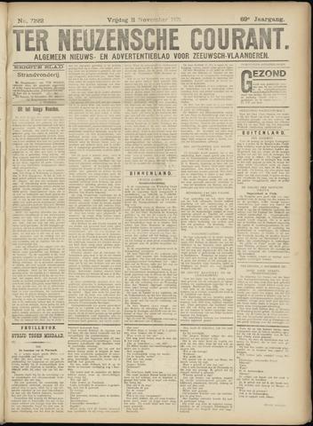 Ter Neuzensche Courant. Algemeen Nieuws- en Advertentieblad voor Zeeuwsch-Vlaanderen / Neuzensche Courant ... (idem) / (Algemeen) nieuws en advertentieblad voor Zeeuwsch-Vlaanderen 1921-11-11