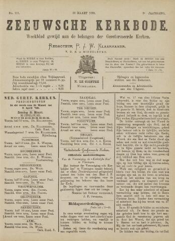 Zeeuwsche kerkbode, weekblad gewijd aan de belangen der gereformeerde kerken/ Zeeuwsch kerkblad 1889-03-30