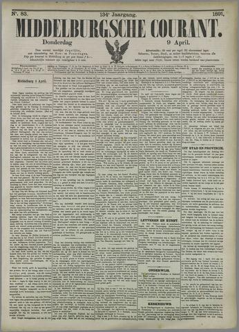 Middelburgsche Courant 1891-04-09