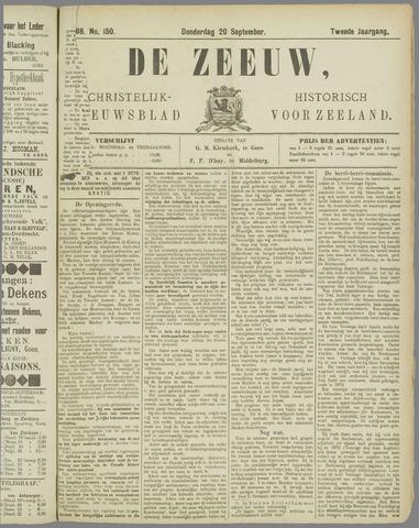 De Zeeuw. Christelijk-historisch nieuwsblad voor Zeeland 1888-09-20