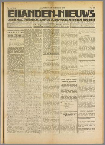 Eilanden-nieuws. Christelijk streekblad op gereformeerde grondslag 1935-02-23