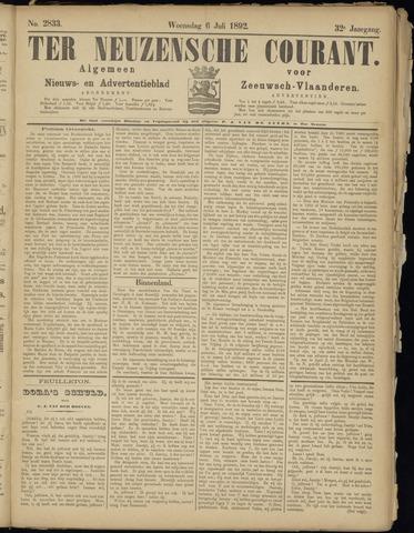 Ter Neuzensche Courant. Algemeen Nieuws- en Advertentieblad voor Zeeuwsch-Vlaanderen / Neuzensche Courant ... (idem) / (Algemeen) nieuws en advertentieblad voor Zeeuwsch-Vlaanderen 1892-07-06