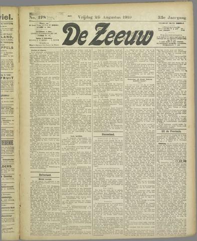 De Zeeuw. Christelijk-historisch nieuwsblad voor Zeeland 1919-08-29