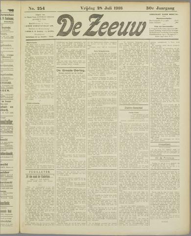 De Zeeuw. Christelijk-historisch nieuwsblad voor Zeeland 1916-07-28