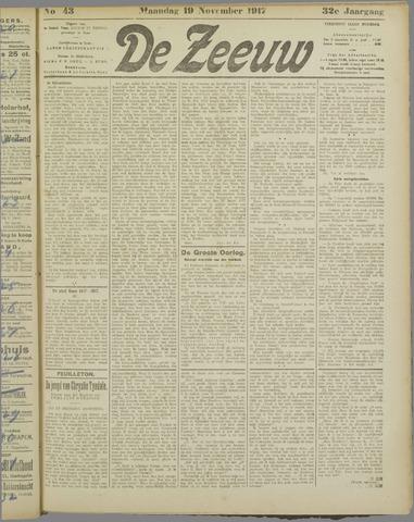 De Zeeuw. Christelijk-historisch nieuwsblad voor Zeeland 1917-11-19