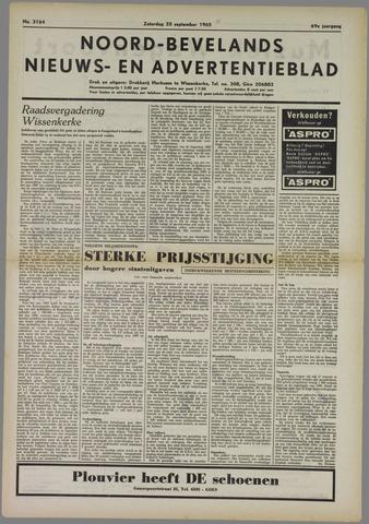Noord-Bevelands Nieuws- en advertentieblad 1965-09-25