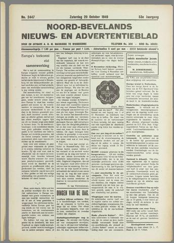 Noord-Bevelands Nieuws- en advertentieblad 1949-10-29