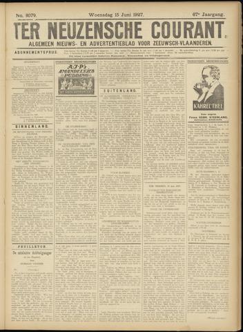 Ter Neuzensche Courant. Algemeen Nieuws- en Advertentieblad voor Zeeuwsch-Vlaanderen / Neuzensche Courant ... (idem) / (Algemeen) nieuws en advertentieblad voor Zeeuwsch-Vlaanderen 1927-06-15
