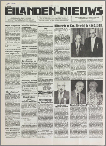 Eilanden-nieuws. Christelijk streekblad op gereformeerde grondslag 1985-05-01