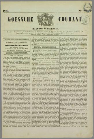 Goessche Courant 1851-12-08