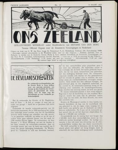 Ons Zeeland / Zeeuwsche editie 1927-03-19