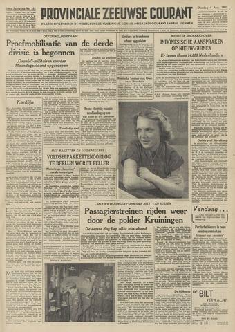 Provinciale Zeeuwse Courant 1953-08-04