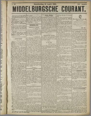 Middelburgsche Courant 1921-04-14