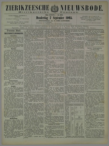 Zierikzeesche Nieuwsbode 1905-09-07