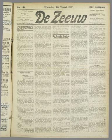 De Zeeuw. Christelijk-historisch nieuwsblad voor Zeeland 1918-03-25