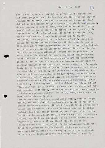 Watersnood documentatie 1953 - diversen 1953