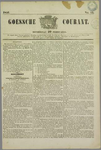 Goessche Courant 1851-02-20