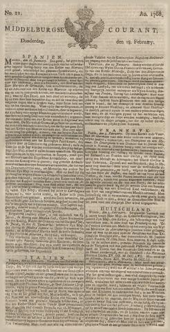 Middelburgsche Courant 1768-02-18