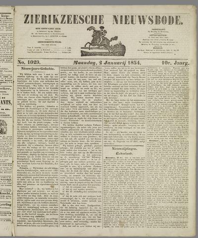 Zierikzeesche Nieuwsbode 1854