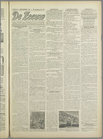 De Zeeuw. Christelijk-historisch nieuwsblad voor Zeeland 1943-09-17