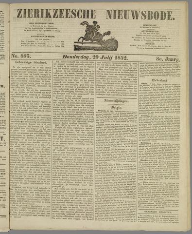 Zierikzeesche Nieuwsbode 1852-07-29