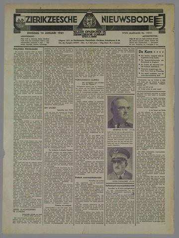 Zierikzeesche Nieuwsbode 1941-01-14