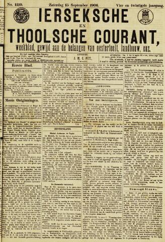 Ierseksche en Thoolsche Courant 1906-09-15