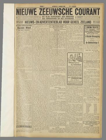 Nieuwe Zeeuwsche Courant 1931-01-03