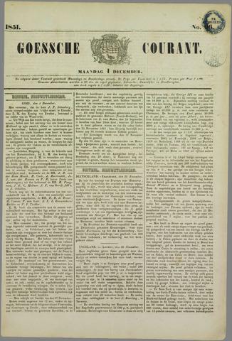 Goessche Courant 1851-12-01