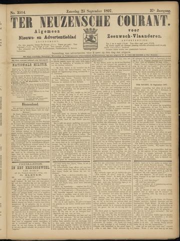 Ter Neuzensche Courant. Algemeen Nieuws- en Advertentieblad voor Zeeuwsch-Vlaanderen / Neuzensche Courant ... (idem) / (Algemeen) nieuws en advertentieblad voor Zeeuwsch-Vlaanderen 1897-09-25