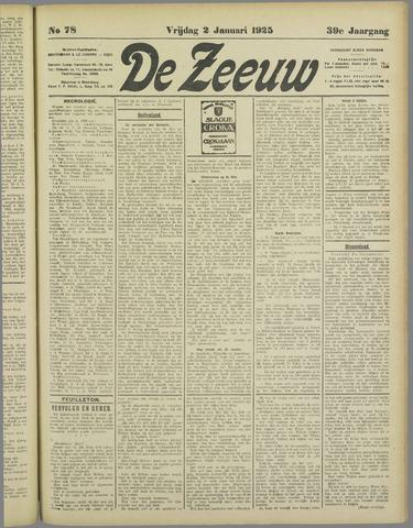 De Zeeuw. Christelijk-historisch nieuwsblad voor Zeeland 1925