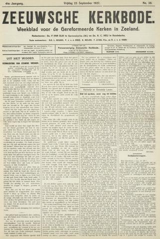 Zeeuwsche kerkbode, weekblad gewijd aan de belangen der gereformeerde kerken/ Zeeuwsch kerkblad 1927-09-23