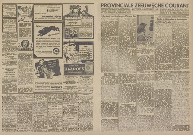 Provinciale Zeeuwse Courant 1942-12-05