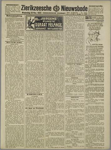 Zierikzeesche Nieuwsbode 1922-11-22