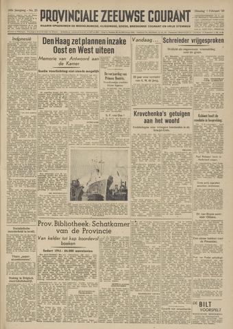 Provinciale Zeeuwse Courant 1949-02-01