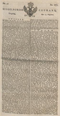 Middelburgsche Courant 1771-08-13