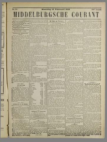 Middelburgsche Courant 1919-02-10