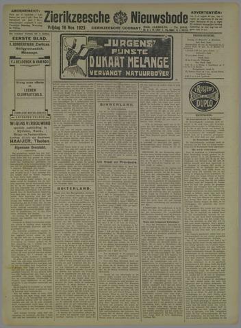 Zierikzeesche Nieuwsbode 1923-11-16