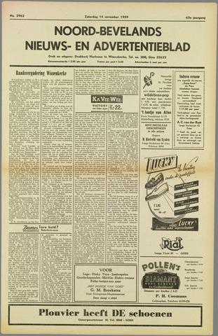 Noord-Bevelands Nieuws- en advertentieblad 1959-11-14