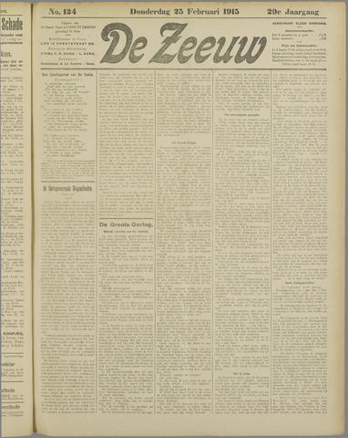 De Zeeuw. Christelijk-historisch nieuwsblad voor Zeeland 1915-02-25