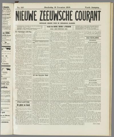 Nieuwe Zeeuwsche Courant 1908-11-26